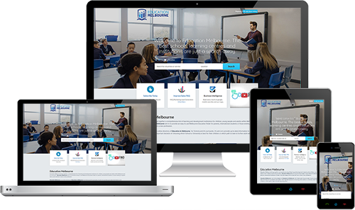 Education Melbourne displayed beautifully on multiple devices